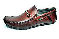 Мужские туфли мокасины Lemar коричневые