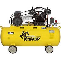 Компрессор ременной двухцилиндровый Кентавр КР-10030В (420 л/мин, 100 л)