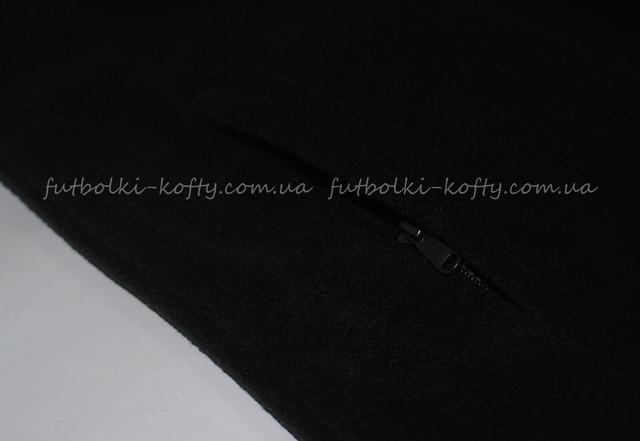 Детская чёрная классическая флисовая кофта на замке