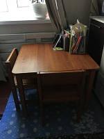 Комплект Растишка Стол 70*70 загруг. и два стула
