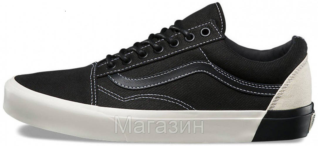 Женские кеды Vans Old Skool DX Blocked Classic White Black (Ванс Олд Скул) ef987edeb8f