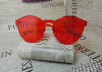 Красные очки без оправы