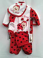 Комплект одежды для новорожденной девочки, из 5 предметов.