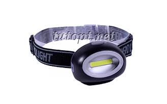 Налобный фонарик Baoling Cob headlights BL-2089, 3 R3/AAA Батарейки, 1 режим освещения, крепление на голову