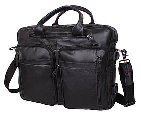 Мужская кожаная сумка PRE1710 черная