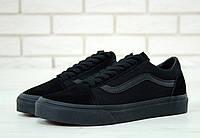 """Кеды унисекс Vans Old Skool Black """"Полностью черные"""" р. 4.5-11 (36-44), фото 1"""