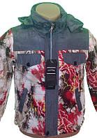 Куртка демисезонная детская красная размер 128