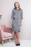 Стильное женское платье Донна  большие размеры(50-60)синий