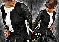 Женская кофта куртка бомбер черная Vera   (код 083) , фото 1