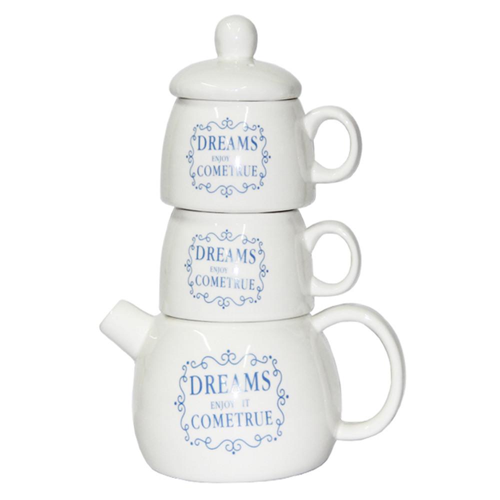 """Набор """"Чай для двоих"""", чайник 500 мл, чашки 250 мл."""