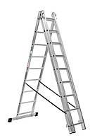 Лестница универсальная HIGHER 3х9 алюминиевая, фото 1