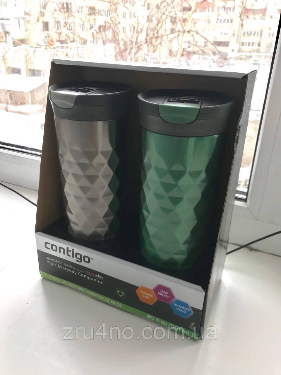 Подарунковий набір - Contigo SnapSeal Kenton Travel Mugs 0,59 л, 2 шт. (1000-0500)