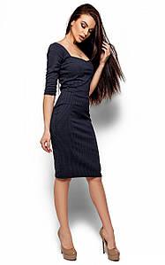 Витончене класичне темно-синє плаття Hiser (S, M, L)