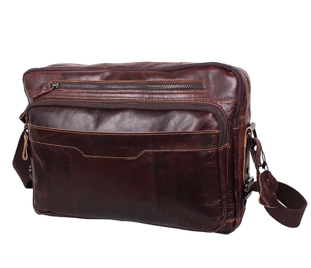 1bc9f29ef880 Мужская кожаная сумка A4 Dovhani PRE1863 Коричневая - Интернет магазин