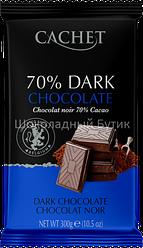 Шоколад CACHET, экстра черный 70%, 300г.