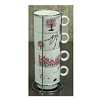 "Набор чайный на подставке ""Сакура"" 250 мл."