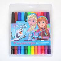 """Фломастеры 12 цв. """"Frozen"""" 1 Вересня 650293"""