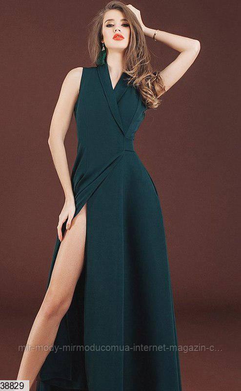 Платье 38829 изумрудное с 42 по 46 размер (кт)