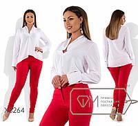 Шелковая женская блуза в больших размерах 202264
