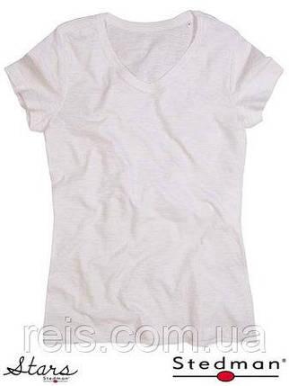Женская футболка с V-образным воротом SST9510 WHI, фото 2