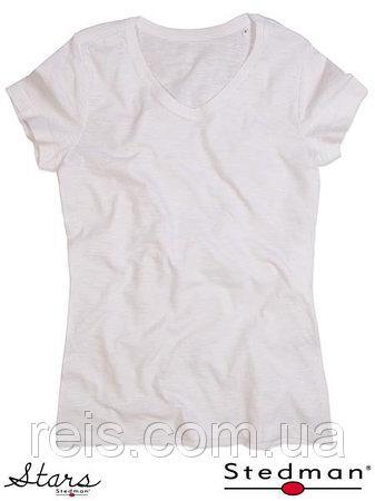 Женская футболка с V-образным воротом SST9510 WHI