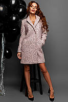 Женское демисезонное пальто из материала букле 12273