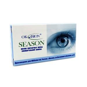 Линзы контактные на 3 месяца Season, Ok Vision, (2шт)