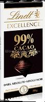 Шоколад Lindt EXCELLENCE, экстра чёрный 99%, 50г.