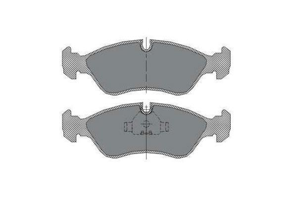 DBB 176.00 Тормозные колодки (задние) MERCEDES-BENZ G- Class 0024204020, VW 2D0698451