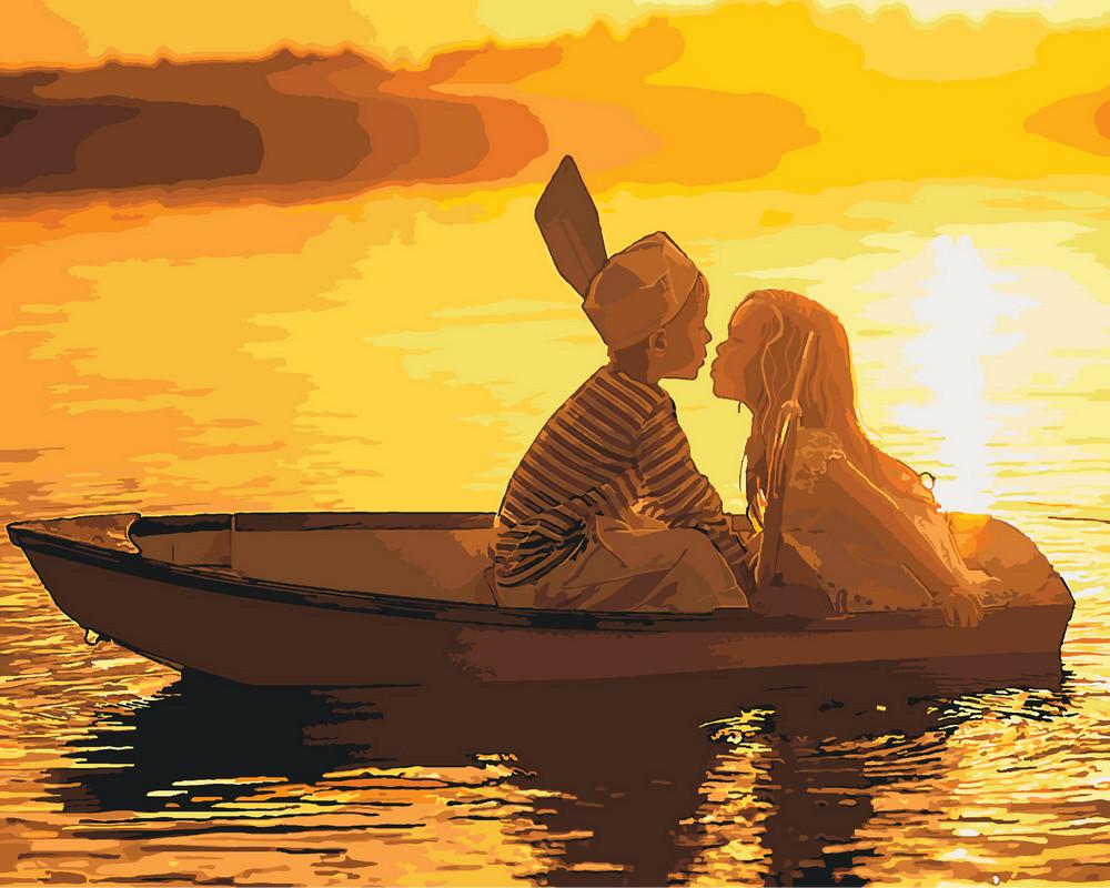 KH2322 Картина раскраска Первая любовь Идейка