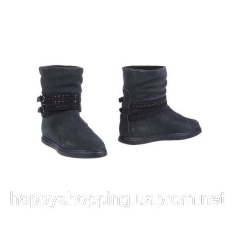 Женские темно-серые итальянские ботинки из натуральной замши CafeNoir