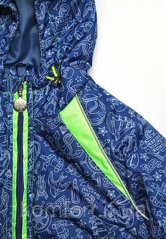 Куртка детская для мальчика море синяя, фото 2