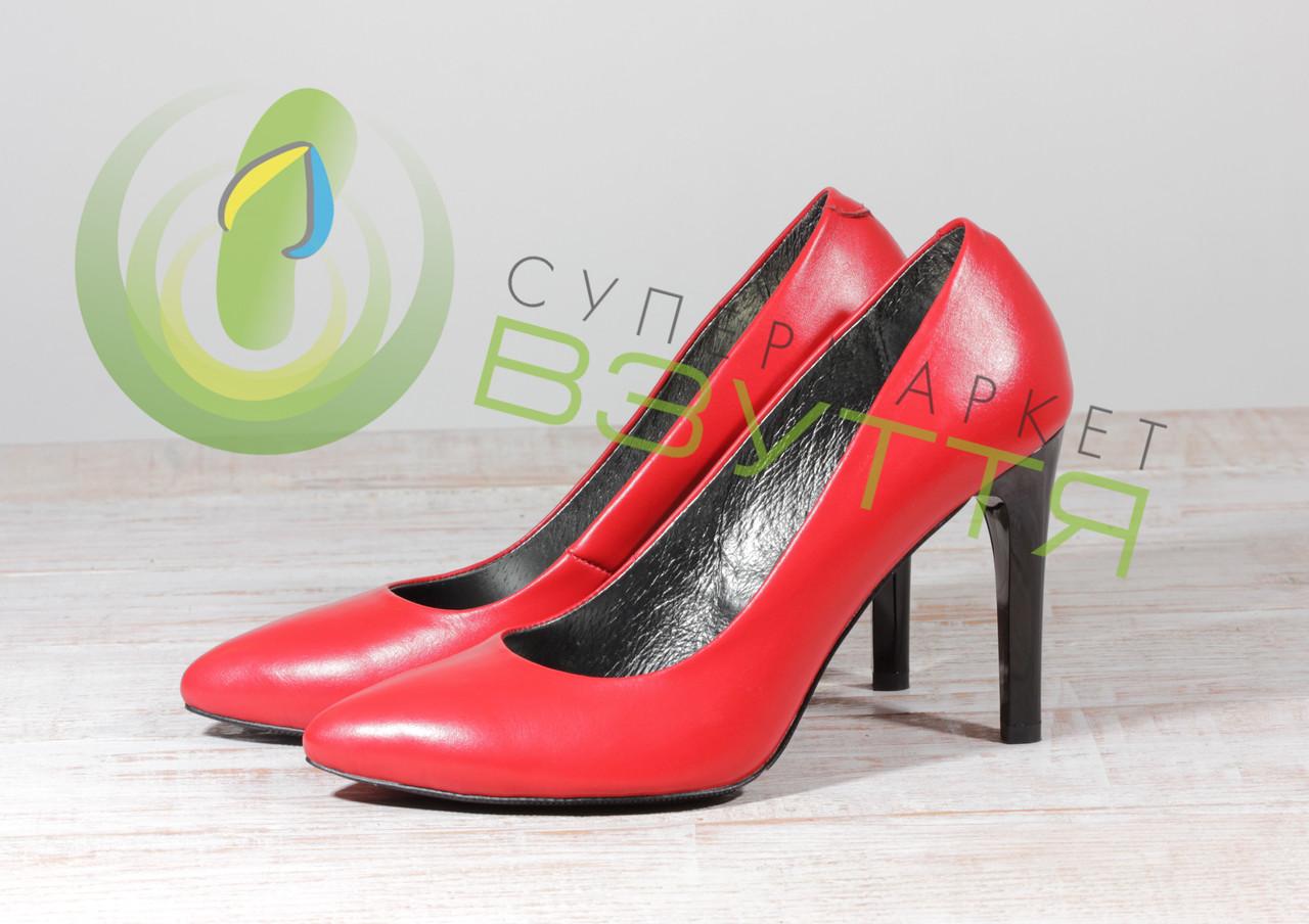 Кожаные женские туфли Наша версия 19 красн 39 размеры