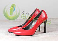 Кожаные женские туфли Наша версия 19 красн 39 размеры, фото 1