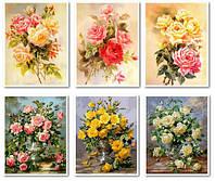 Картини модульні з квітами — триптихи розміром 50 х 120 см