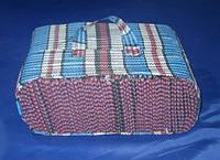 Хозяйственная сумка 315/240/135 мм тканевая в клетку на одну 3-литровую банку