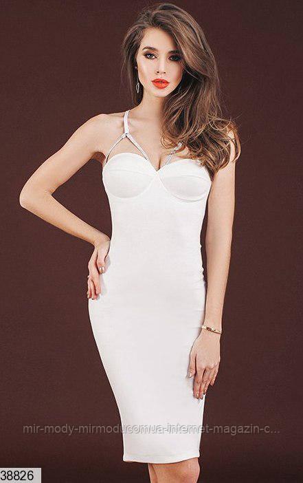 Платье 38826 белый с 42 по 46 размер (кт)