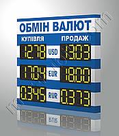 Электронное табло для обменников 680х600 мм