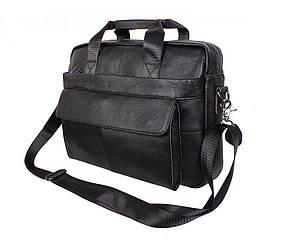 Мужская кожаная сумка R009 черная
