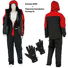 Костюм DAM Steelpower Red Thermo XL + перчатки Gamakatsu Fleece Fishing Gloves XL