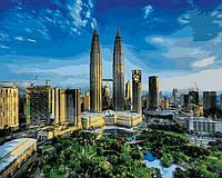 VP823 Картина раскраска Башни Петронас. Малайзия Турбо
