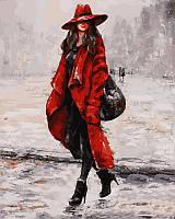 NB513 Картина раскраска (на цветном холсте) Красный - мой цвет! Турбо Премиум