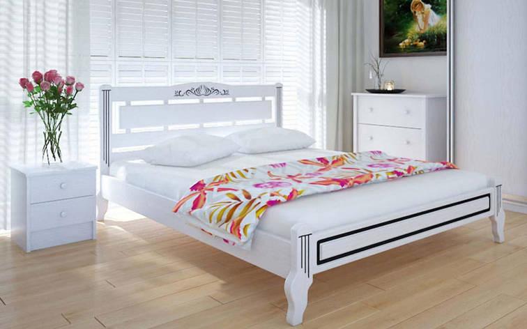 Деревянная кровать Осака люкс 140х190 см ТМ Meblikoff, фото 2