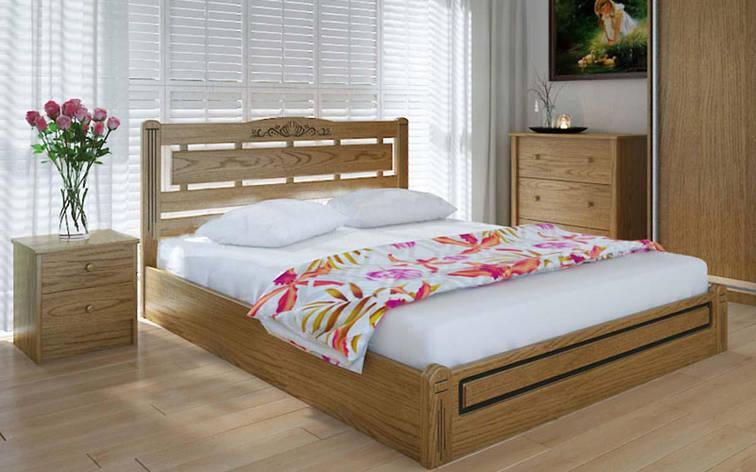 Деревянная кровать Осака люкс с механизмом 140х190 см ТМ Meblikoff, фото 2