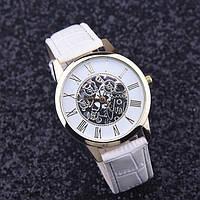 Часы женские наручные кварцевые с белым браслетом, белый циферблат