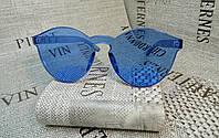 Синие очки без оправы