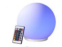 Лампа Куля LED 20 cm RGB з пультом