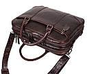 Мужская кожаная сумка с отделением под ноутбук Dovhani 9086-3 Коричневая, фото 7