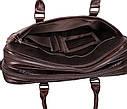Мужская кожаная сумка с отделением под ноутбук Dovhani 9086-3 Коричневая, фото 9