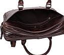Мужская кожаная сумка с отделением под ноутбук Dovhani 9086-3 Коричневая, фото 10